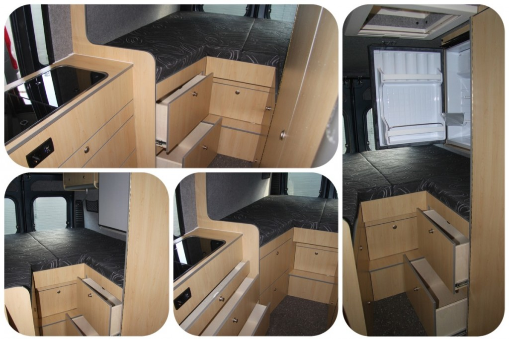 Collage Ducato CBN 4x laden KK bed L