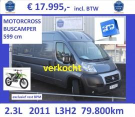 Ducato 2011 L3H2 2.3L-120pk-80dkm blauwgrijs Motorsport verkocht