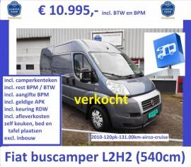 F033 Ducato L2H2 2011 131 2.3 120pk blauwgrijs camperKTK 10995 verkocht