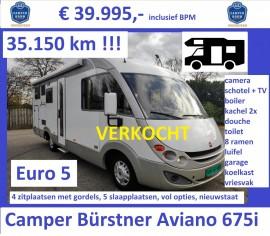 F044 Camper Burstner Aviano 675i 2008 2.3-130-35dkm 39995 VERKOCHT
